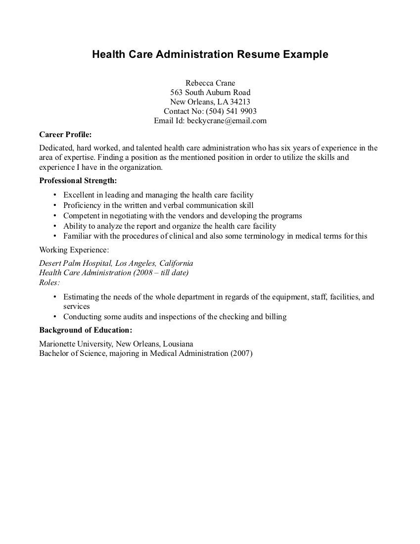 Intools Administrator Cover Letter Healthcare Administration Cover Letter Examples Kleo Sticken Co