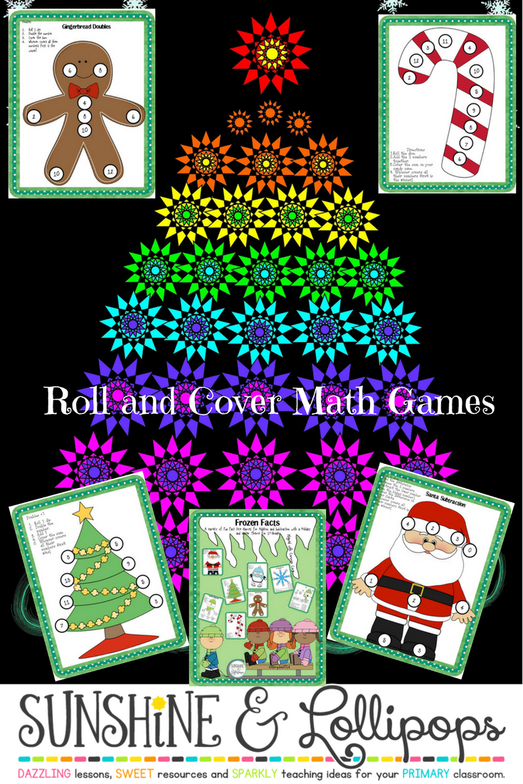 Math Facts: Winter Dice Games for Addition & Subtraction for 1st ...