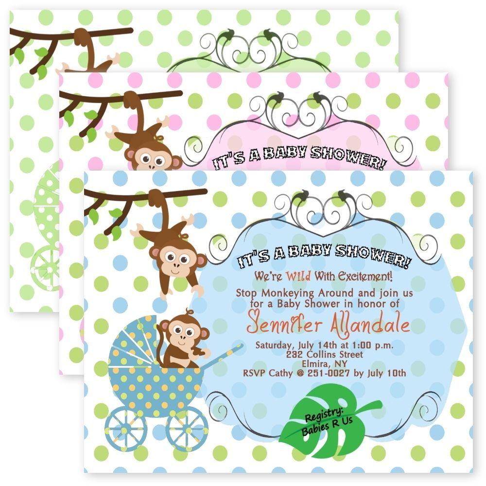 Baby Boy Jungle Invitations, Baby Boy Safari Invitation, Baby Boy ...