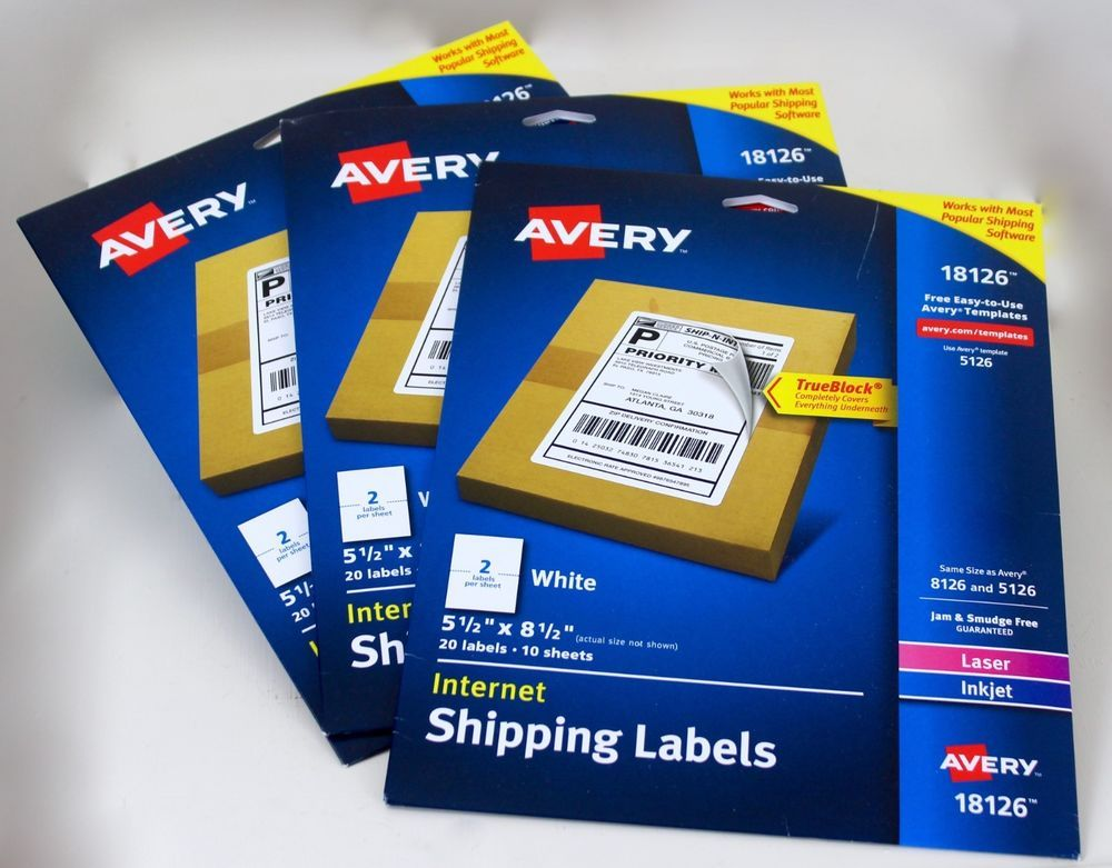 Avery Shipping Labels 18126 Inkjet or Laser 3 Packages 2