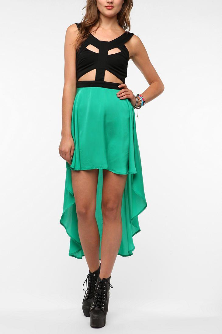 Reverse cutout highlow dress style me pretty pinterest