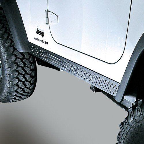 Rugged Ridge Jeep Tj Black Diamond Plate Rocker Side Panel Kit Jeep Wrangler Jeep Wrangler Tj Jeep