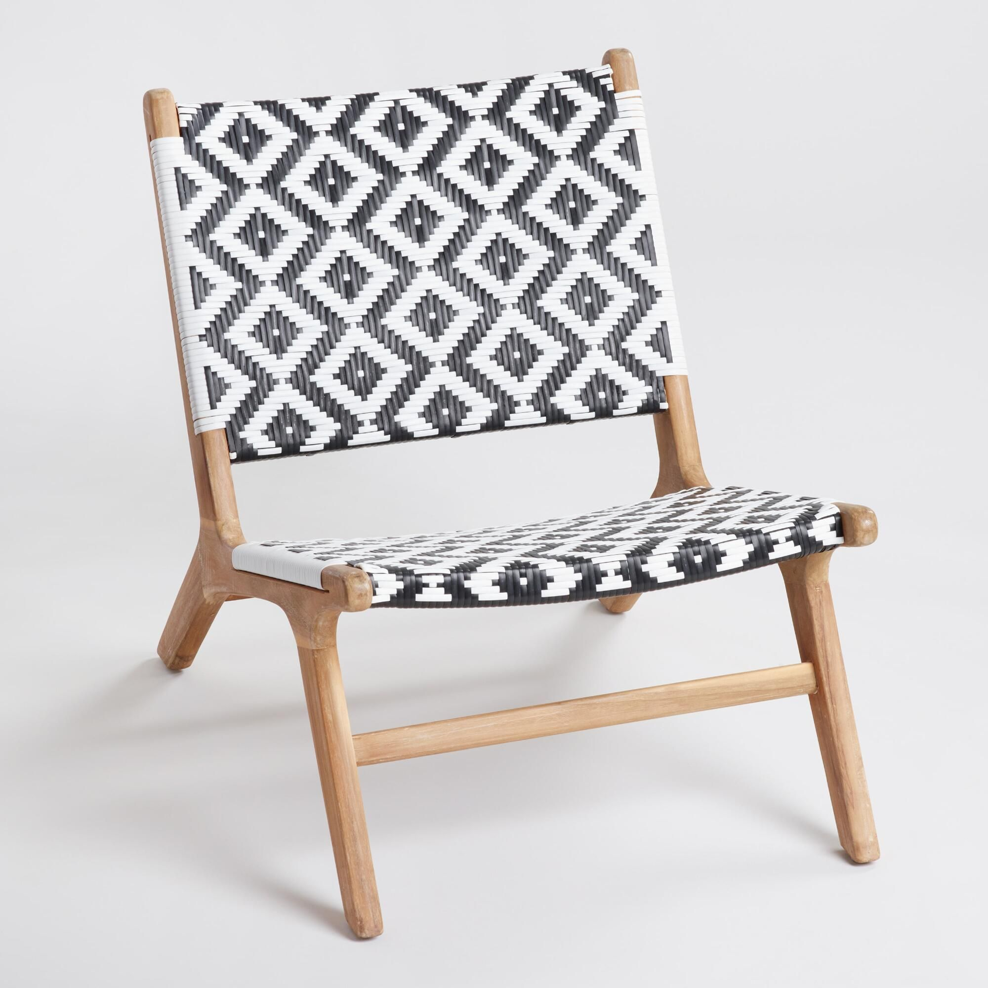 Super Black And White Strap Girona Outdoor Patio Accent Chairs Set Customarchery Wood Chair Design Ideas Customarcherynet