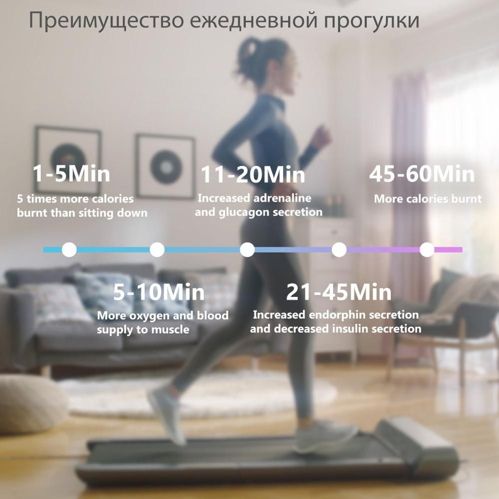 WalkingPad A1 Smart Electric Foldable Treadmill Jog Space