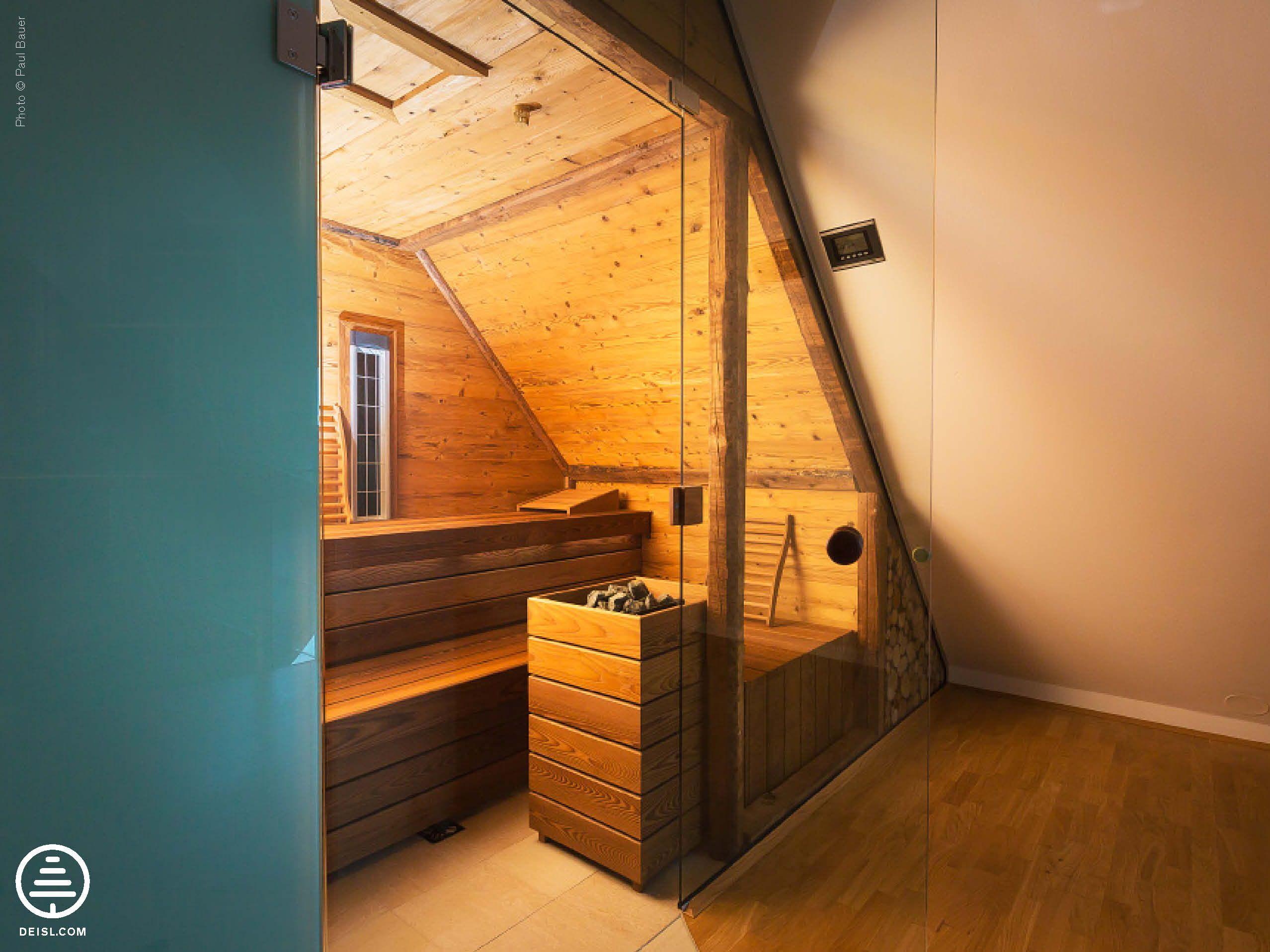 Badezimmer Sternenhimmel ~ Deisl einbausauna in fichte thermobehandelt und gehackte