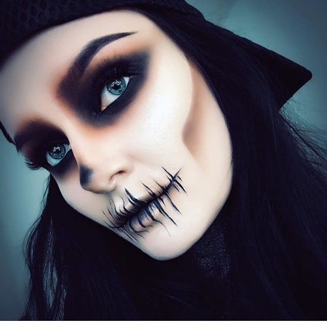 Stitched Mouth Facecandy Skullpaint Eyes Lips