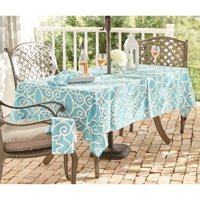 chase geometric stain resistant indoor outdoor tablecloth 60 x 84 rh pinterest com