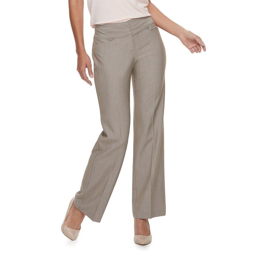 865eb0a73b7 Dana Buchman Women's Midrise Bootcut Millennium Pull-On Dress Pants    Products   Pants, Dress pants, Fashion