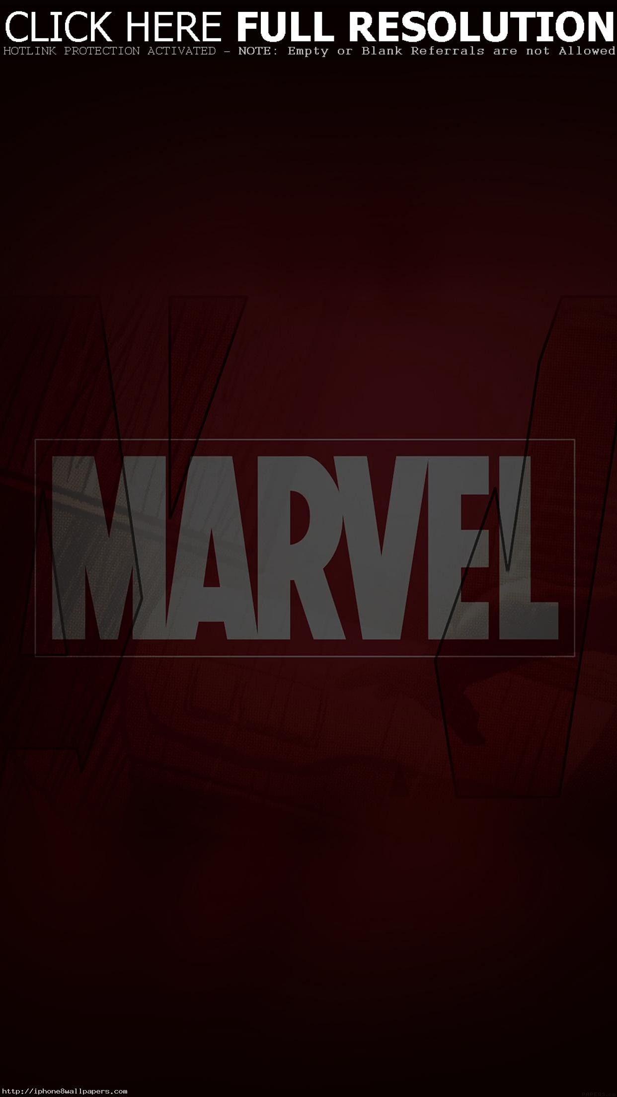 1242x2208 Marvel Logo Film Art Illust Minimal Android Wallpaper