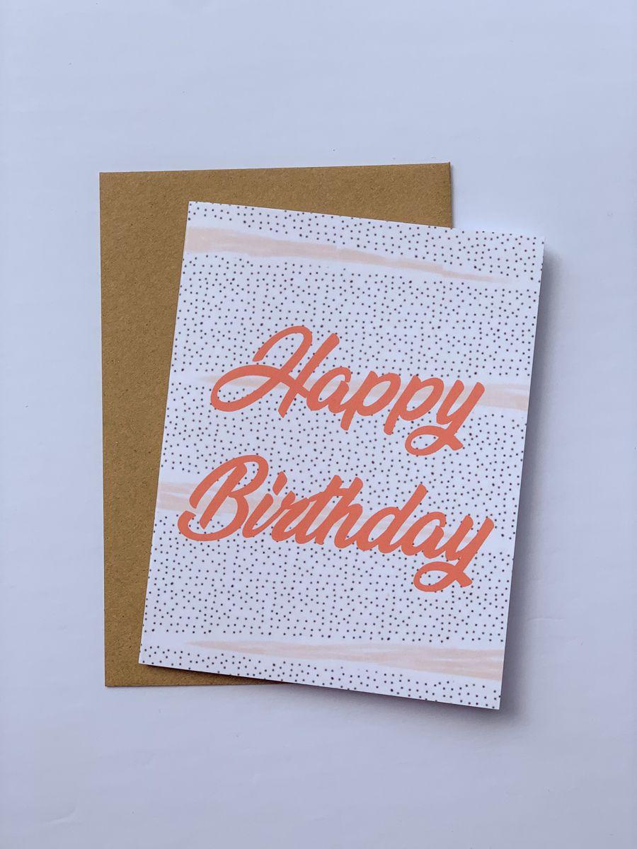 Happy Birthday Card Birthday Greeting Card Handmade Boho Modern Aesthetic Card Birthday Friendship Greeting Cards Handmade Birthday Birthday Cards Greeting Cards Handmade