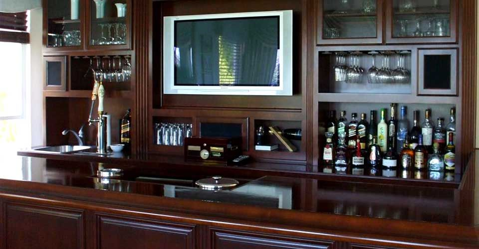 Beautiful Custom Bar Designs | Bar Cabinets Closets Garage Storage Home Office  Kitchen Cabinets .