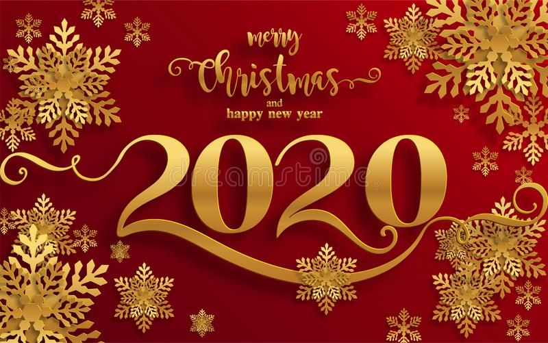 Merry Christmas Greetings And Happy New Year 2020 Vector Illustration Merry Christmas Greetings Happy New Year Images Merry Christmas And Happy New Year
