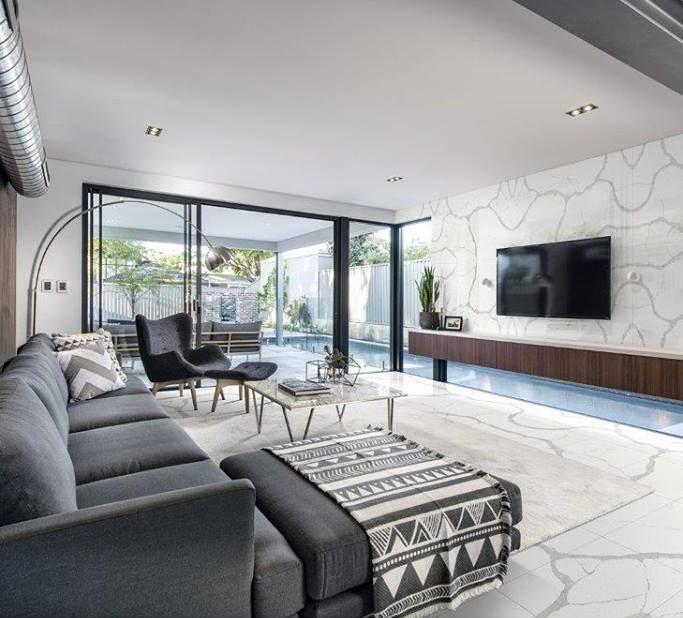 Teltos Calacatta Statuario Wall Cladding And Flooring Display Homes Sectional Sofas Living Room Home