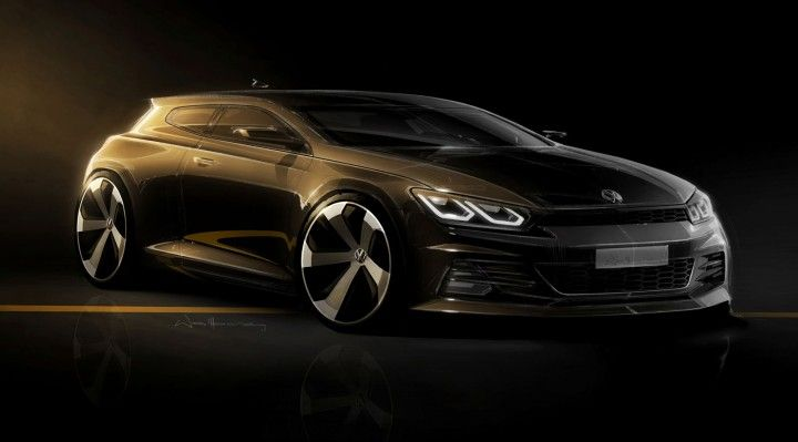 New Volkswagen Scirocco Design Sketch Car Design Sketch Design Sketch Automotive Illustration