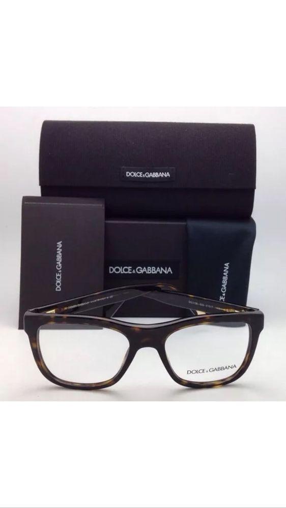 55abfb7be718 New DOLCE   GABBANA Rx-able Eyeglasses Frames DG 3108 502 51-17 Havana w   Clear  DolceGabbana