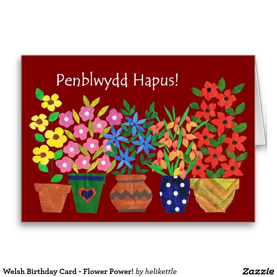 Floral Birthday Card For Mother Welsh Greeting Welsh