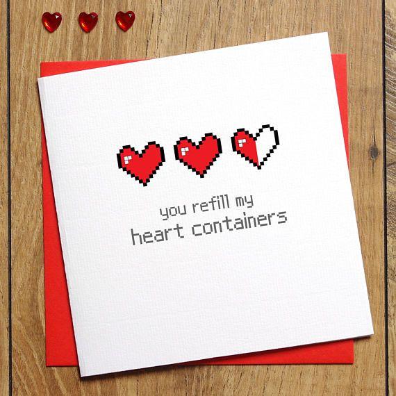 Zelda Valentines Card, Valentine's Day Card, You Refill My ...