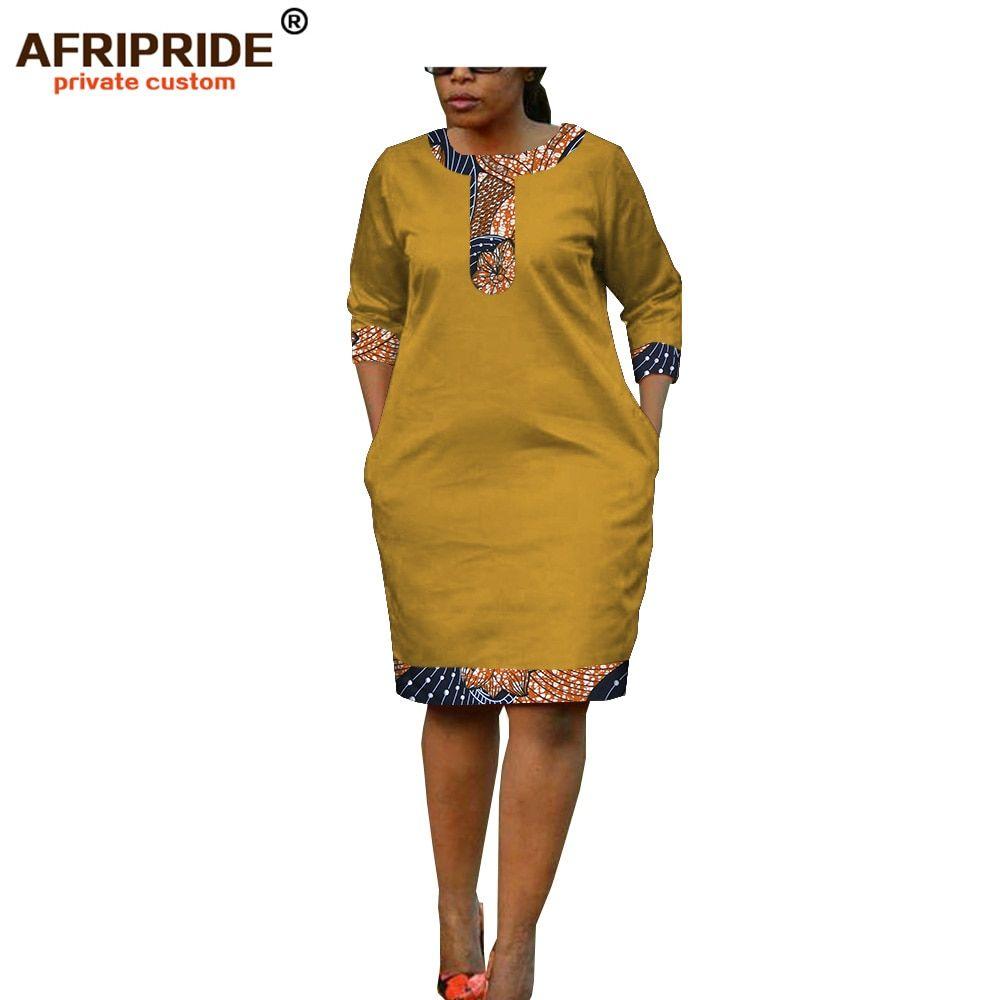 Summer Women Dress African Print Afripride Tailor Made Half Sleeve Knee Length Casual Pencil Batik Dress For Women A1825093 Dresses Aliexpress African Wear Dresses African Fashion Skirts African Print Fashion Dresses [ 1000 x 1000 Pixel ]