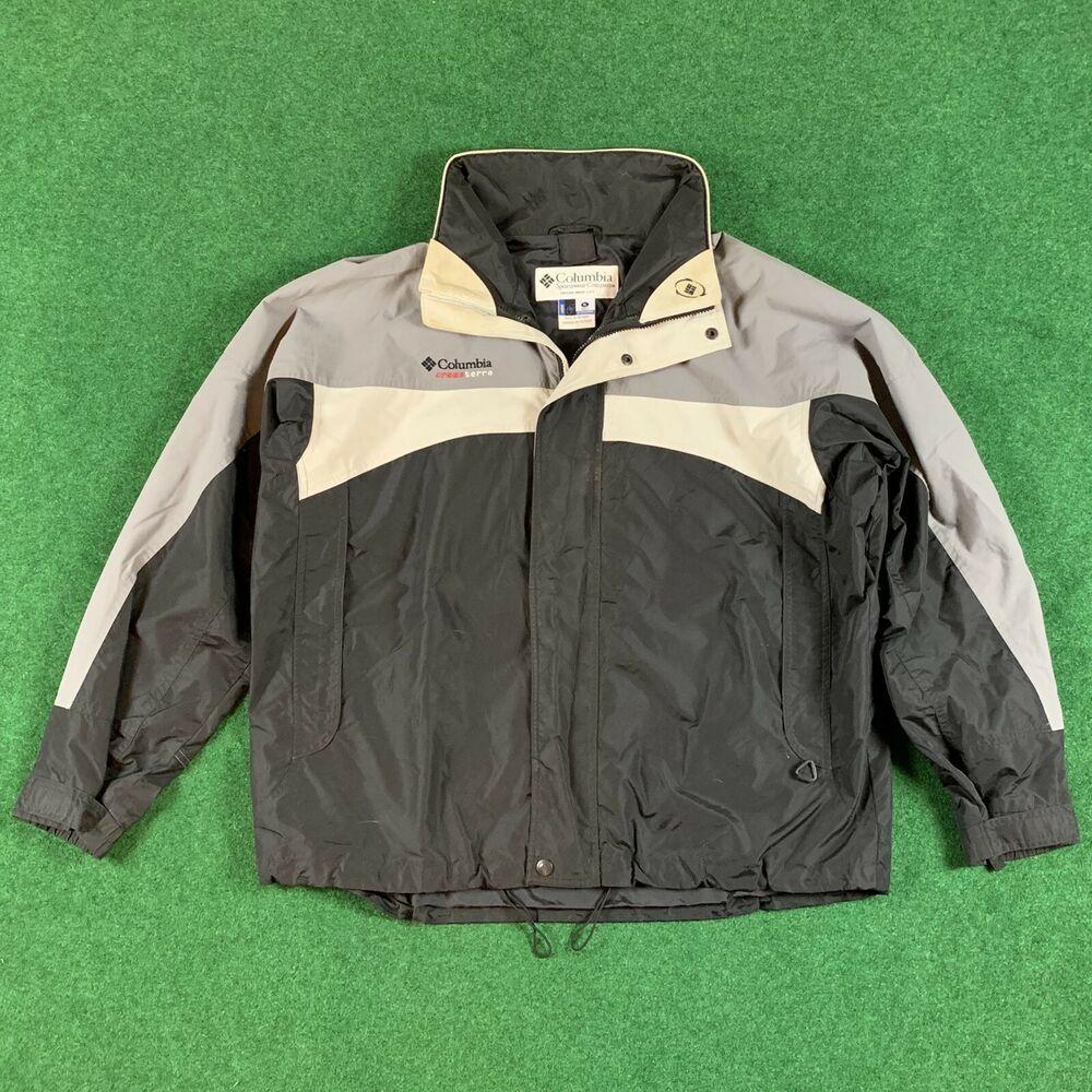 Columbia Mens Jacket Titanium Cross Terra Grey Black