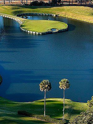 One Of The Most Famous Holes In Golf The 17th Hole At Tpc Sawgrass I Ve Golf Courses Golf Vacations Golf Trip