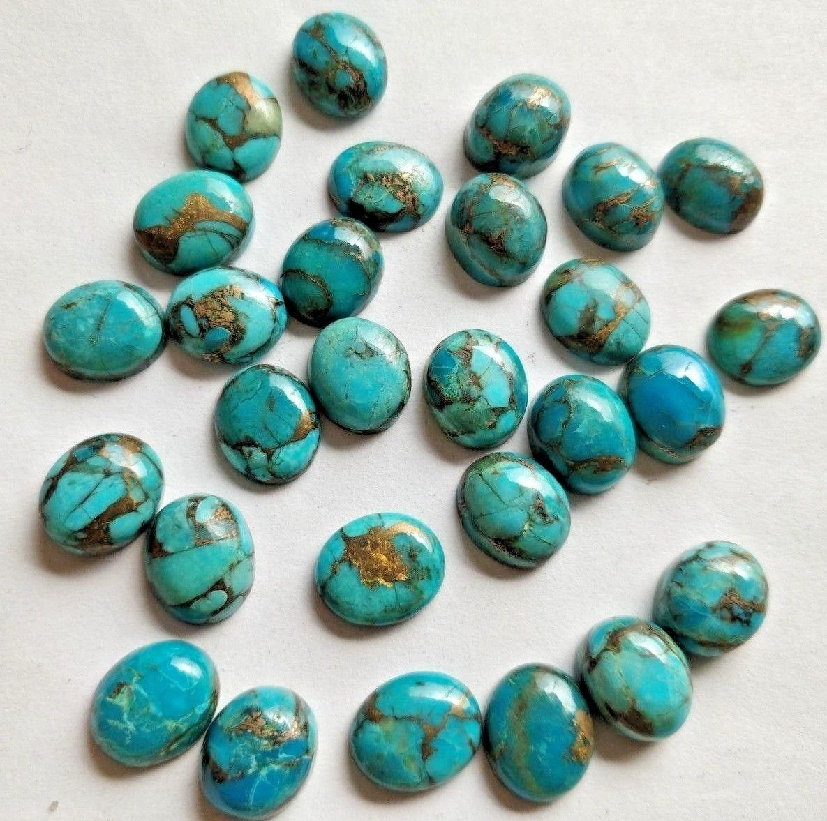 Lot of 10 Picture Jasper Round Cabochon High Quality 5mm 7mm sizes