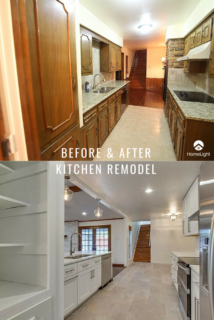 Before And After Kitchen Remodel Photos Looking To Start Remodeling Your Kitchen We Galley Kitchen Remodel Kitchen Remodeling Projects Kitchen Remodel Small
