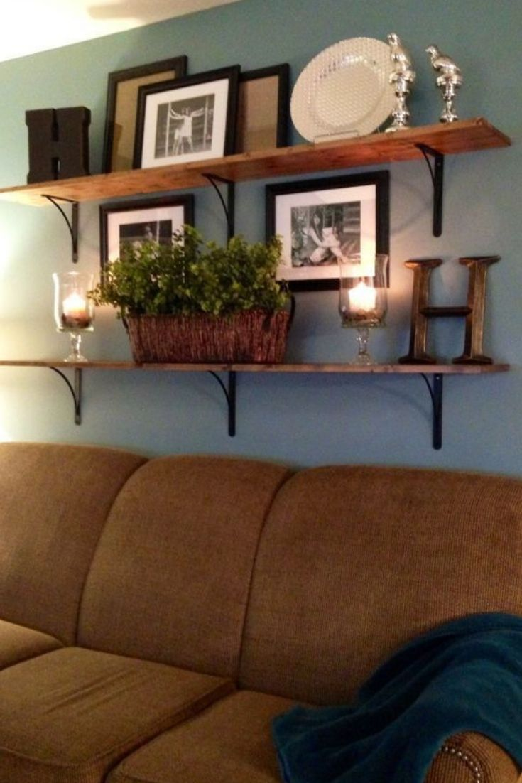 Awesome Floating Shelves Ideas Couch Decor Living Room Decor Rustic Minimalist Living Room