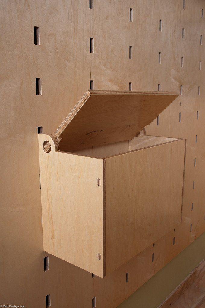 Photo of storage bin   Kerf Wall