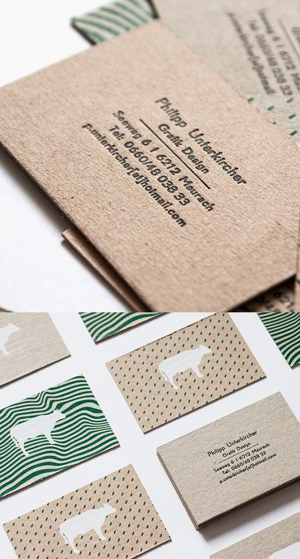 Silkscreen and Letterpress Printed Business Cards | Ad - Graphic ...