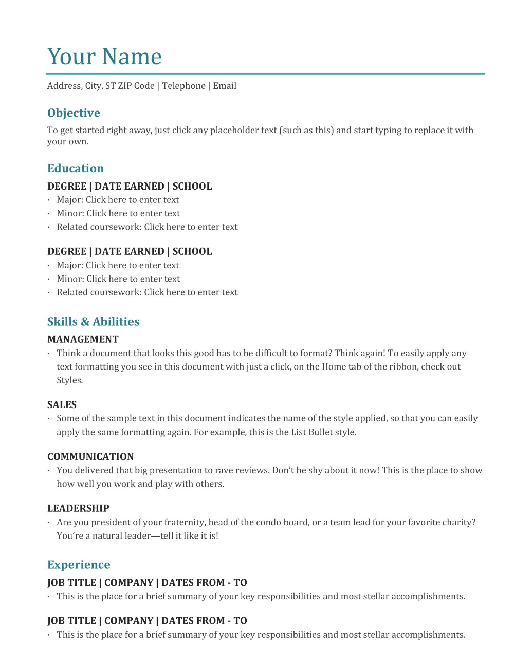 Resumes And Cover Letters Office Inside Microsoft Word Resume Template Free 10 Pro In 2020 Resume Microsoft Word Resume Template Word Microsoft Word Resume Template