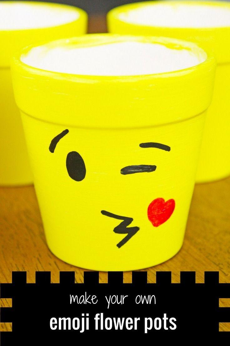 Diy Emoji Ceramic Flower Pots Diy Craft Ideas Emoji Craft Emoji