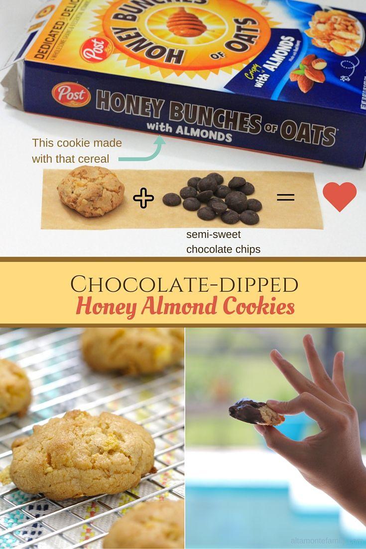 Chocolate Dipped Honey Almond Cookies Gift Idea Cookies Honey