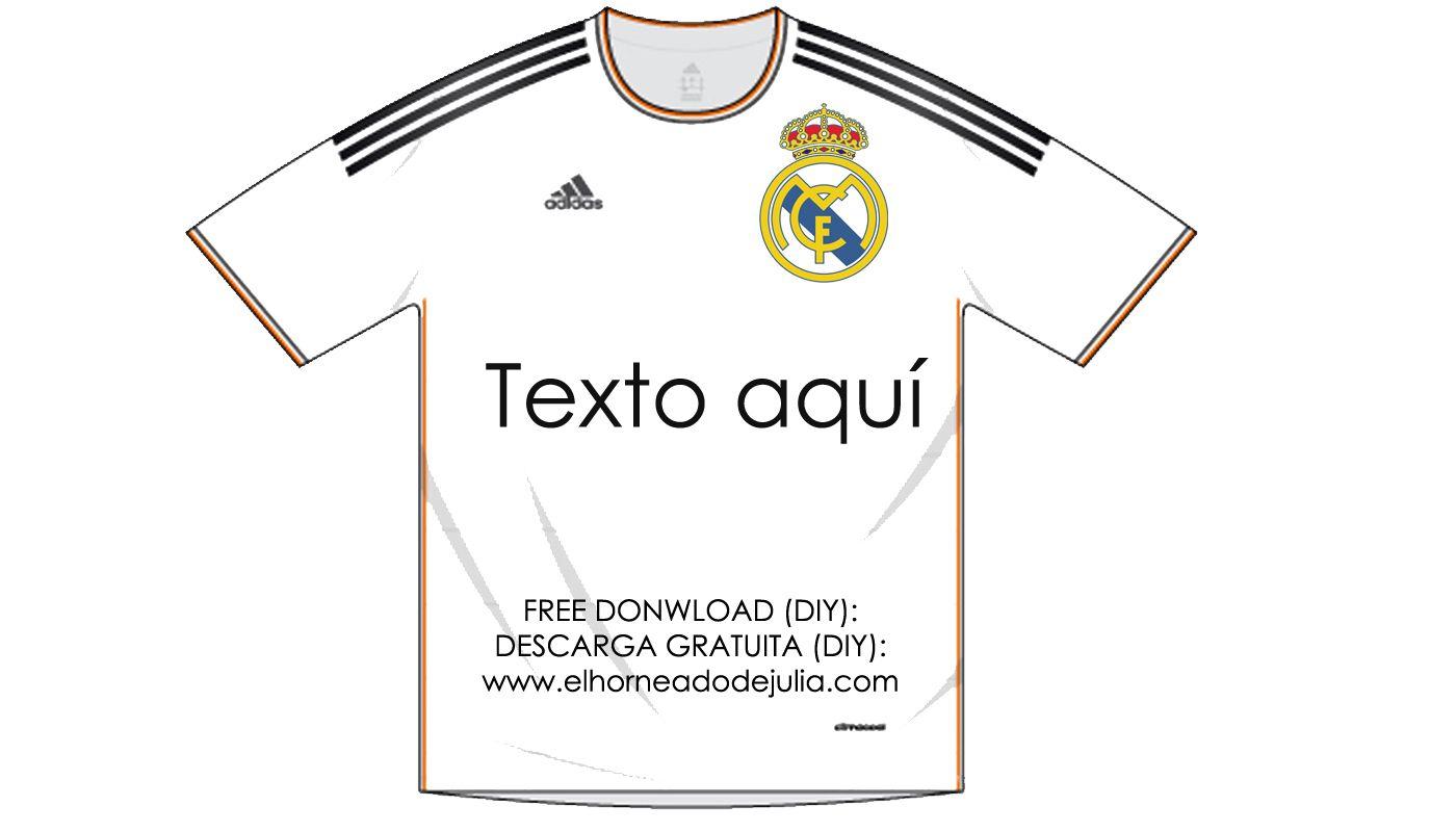 Dibujos Para Colorear Del Real Madrid Para Imprimir: Camiseta Recortable Del Real Madrid Para Carteles Y