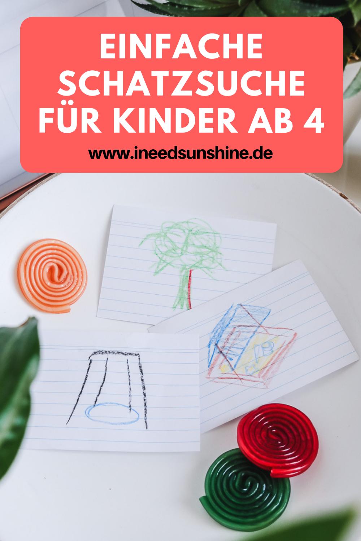 Genial einfache Schatzsuche für Kinder ab 4 Jahren #einfachebastelarbeitenfürkinder