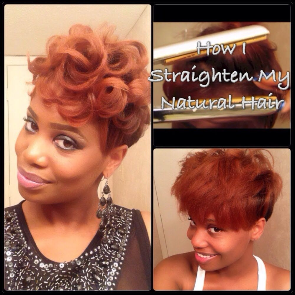 How To Straighten Short Tapered Natural Hair Tutorial - Black Hair