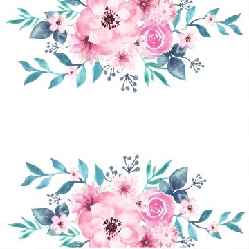 Watercolor Floral Background Floral Watercolor Flower Png