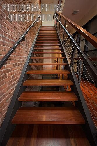 Best Wooden Open Riser Staircase Staircase Remodel Open 400 x 300