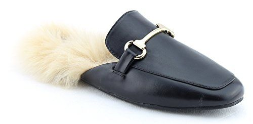 98d1c39ad10 CALICO KIKI Women s Fur Slip-On Mule Sandal Flats Loafer ... https