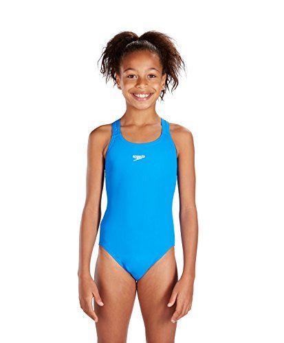 f71896d410 SPEEDO Junior Endurance+ Medalist Swimsuit, Blue, 26in Sp... | Swim ...