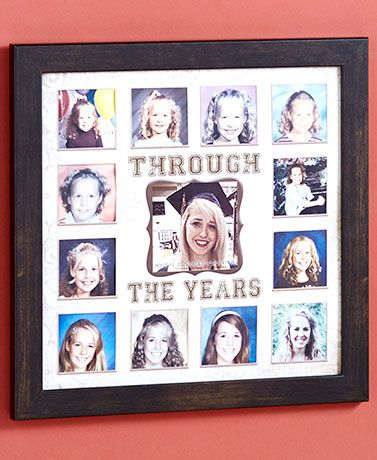 Graduation Frame $11.98 The 2X3 inch school pictures I had saved, fit in this picture frame.