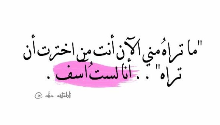 أنا لست آسف Arabic Calligraphy Calligraphy