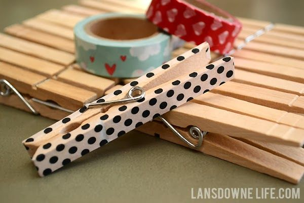 DIY craft kits for kids: Washi tape clothespins