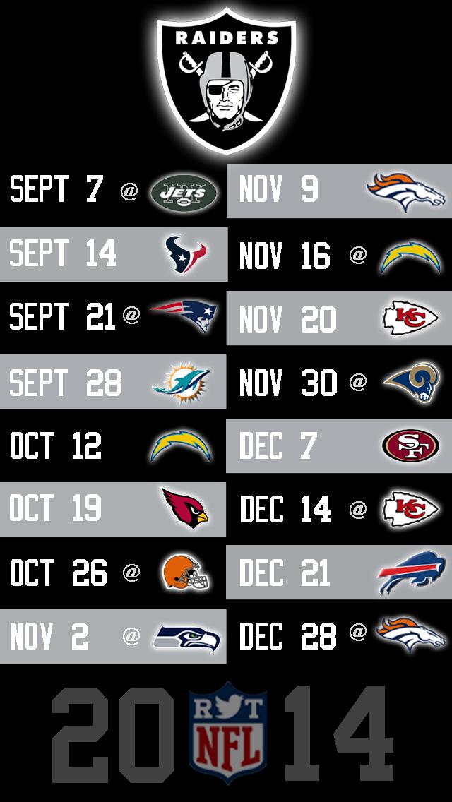 Raiders IPhone Wallpaper 2015 Schedule