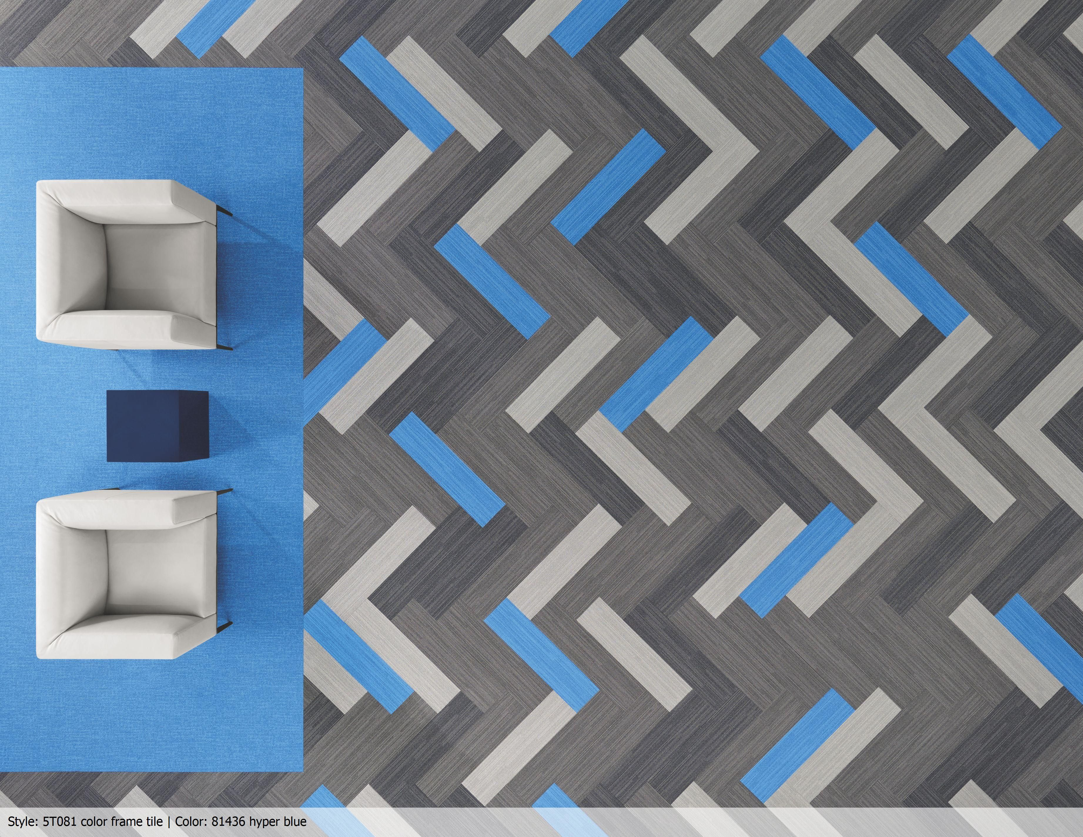 Colour frame tile in hyper blue colour form colour frame view the commercial carpet style color form tile from shaw contract view the carpet in a room scene order samples see specifications and more baanklon Choice Image
