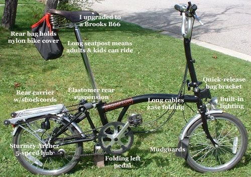 Brompton Co Uk T5 Folding Bicycle 1998 Folds To Just 23 X25 X10