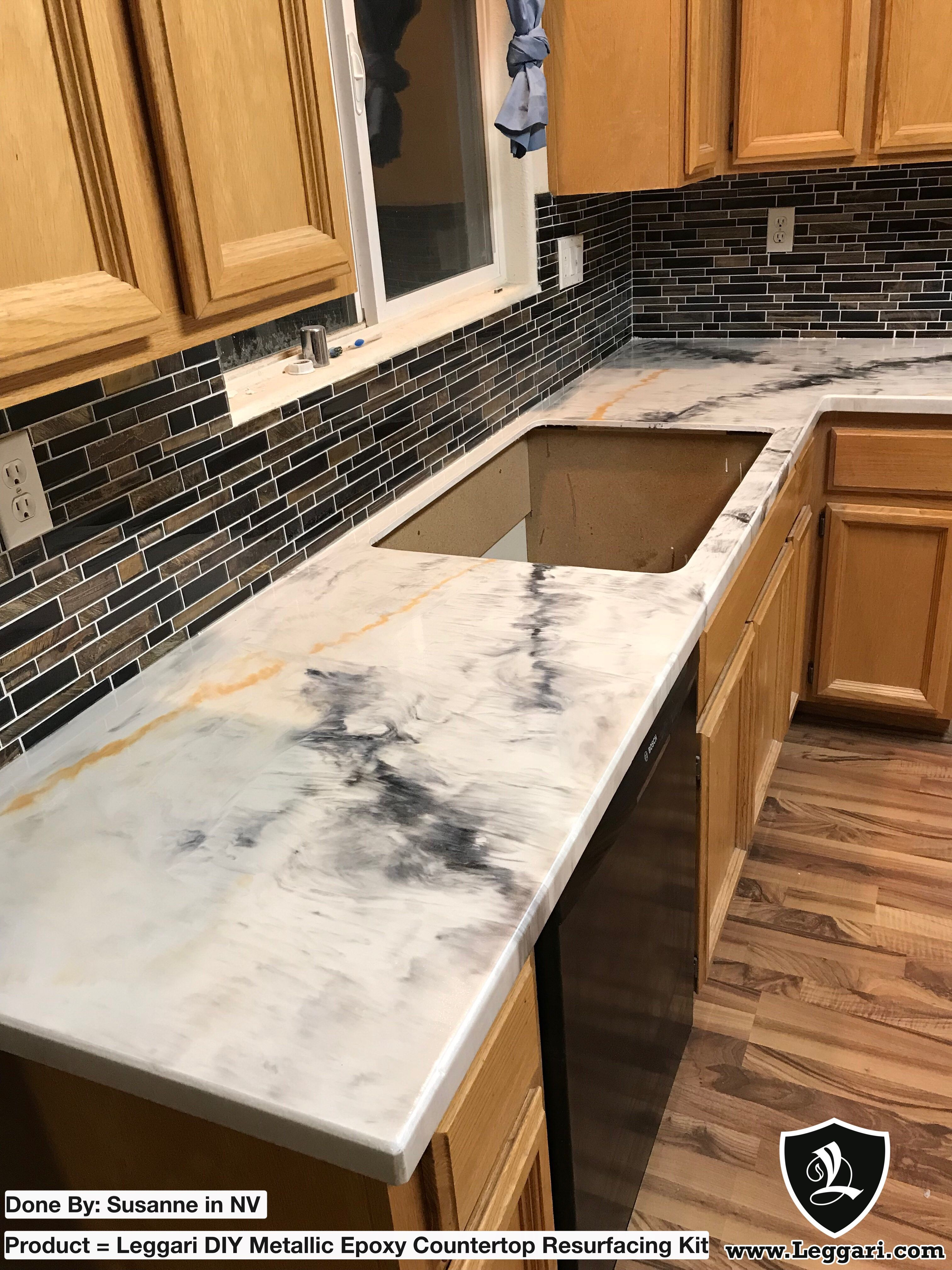 Epoxy countertop we dont often see this color combo but