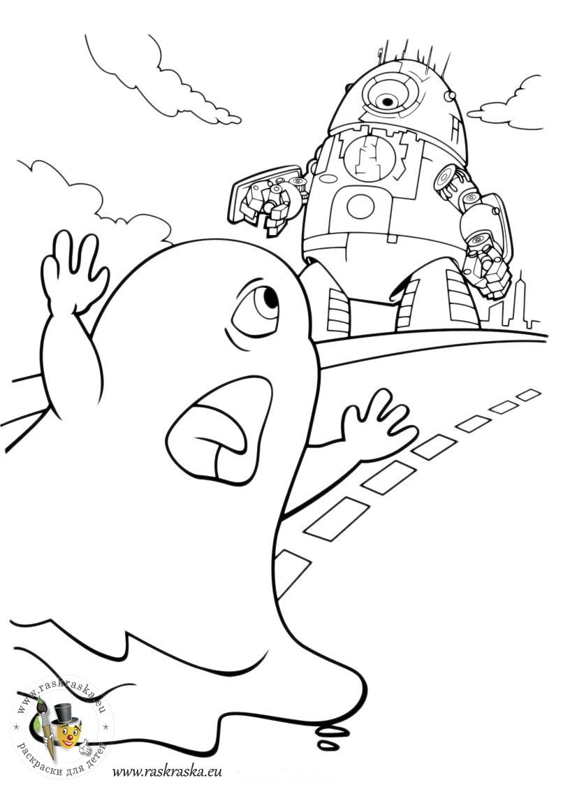 Monsters vs. Aliens coloring pages for kids | Colorbook Pages ...