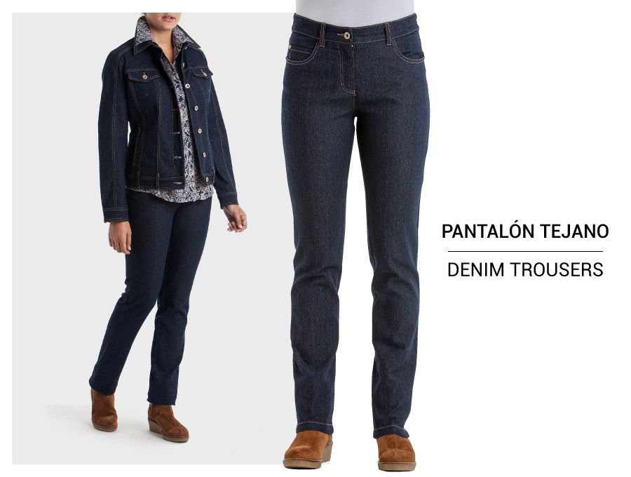 Pantalón tejano básico · Basic denim trousers → https://goo.gl/EQqntO #puntroma #PuntRomaNoTieneEdad