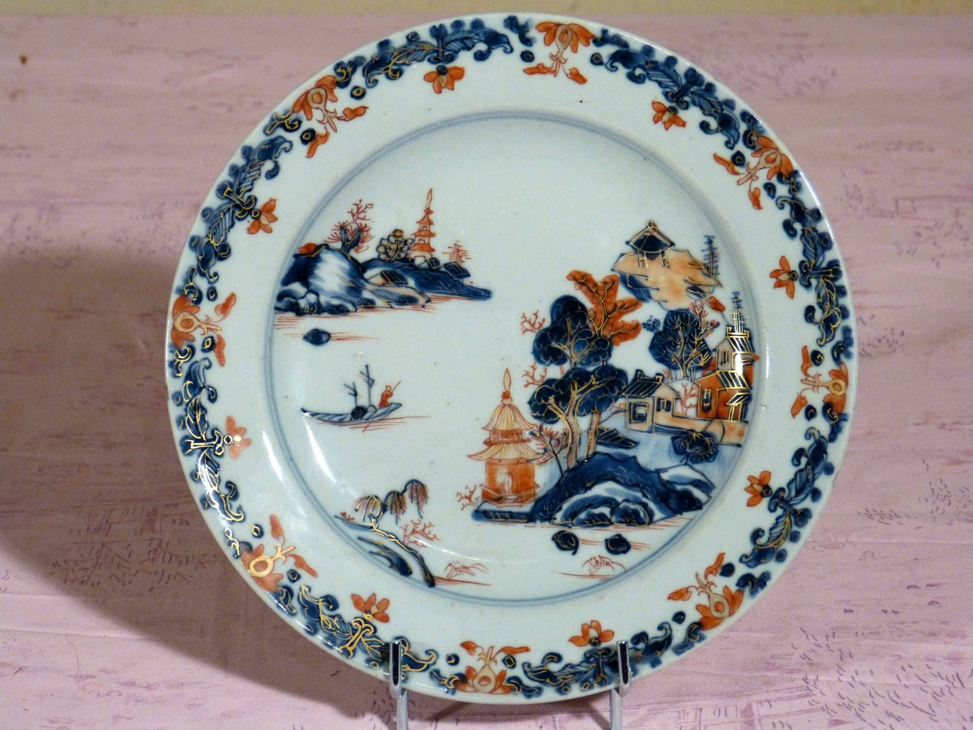 Antique for sale Chinese porcelain Imari plate village pagoda and s&an Vessel Ceramic Faïence Porcelain Decorative art & Antique for sale Chinese porcelain Imari plate village pagoda and ...