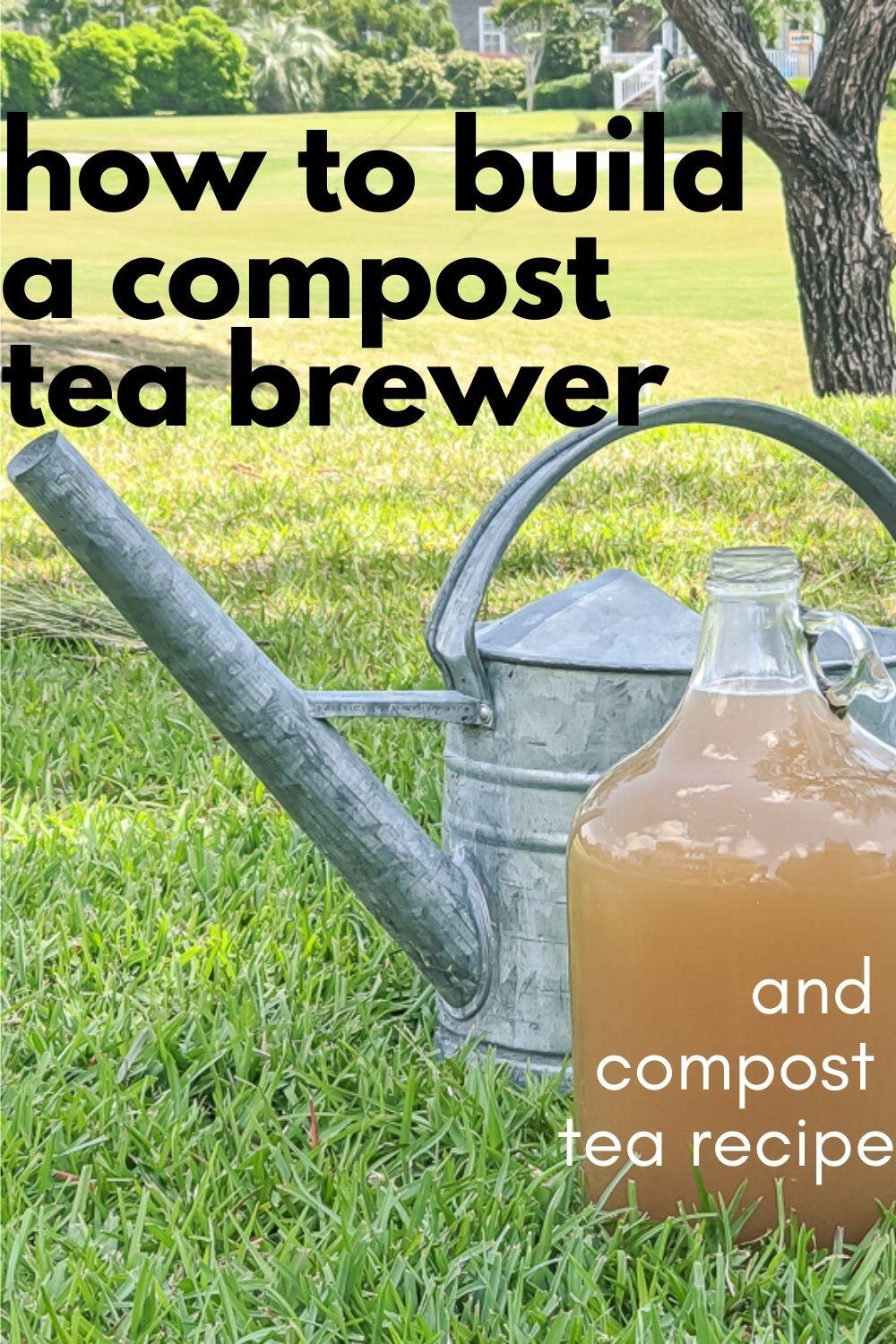 We Swear By The Benefits Of Compost Tea In Our Organic Vegetable Garden In Order To Be Able To Produce Our Own Compo In 2020 Compost Tea Compost Tea Brewer Tea Brewer